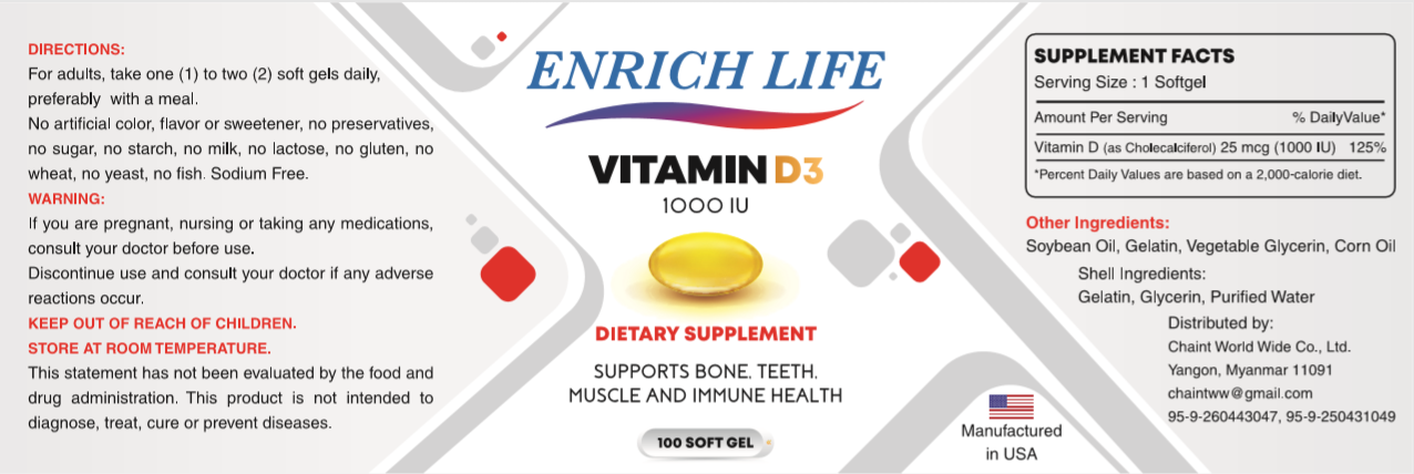 Enrich Life Vitamin D3 (CME)
